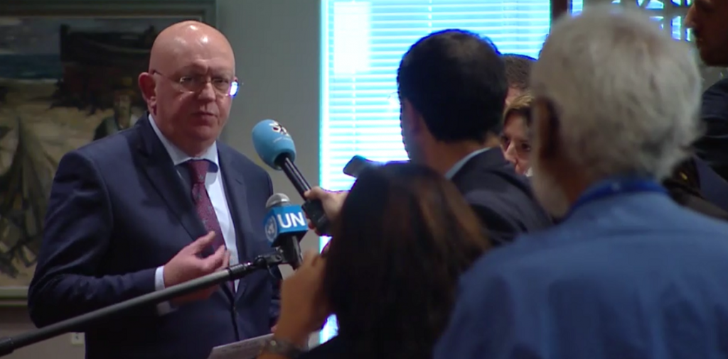 Remarks to the Press by Permanent Representative Vassily Nebenzia after Security Council consultations on Libya