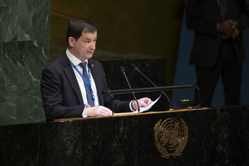 Statement by Chargé d'Affaires of the Russian Federation to the UN Dmitry Polyanskiy on behalf of the Group of Eastern European States on the Occasion of the Election of the President of the General Assembly for the 74th session