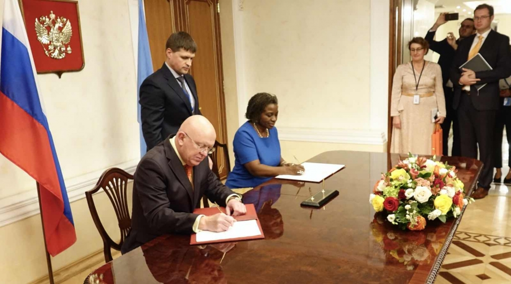 Welcoming remarks by Permanent Representative Vassily Nebenzia at the signing ceremony of donor agreement with the United Nations Population Fund