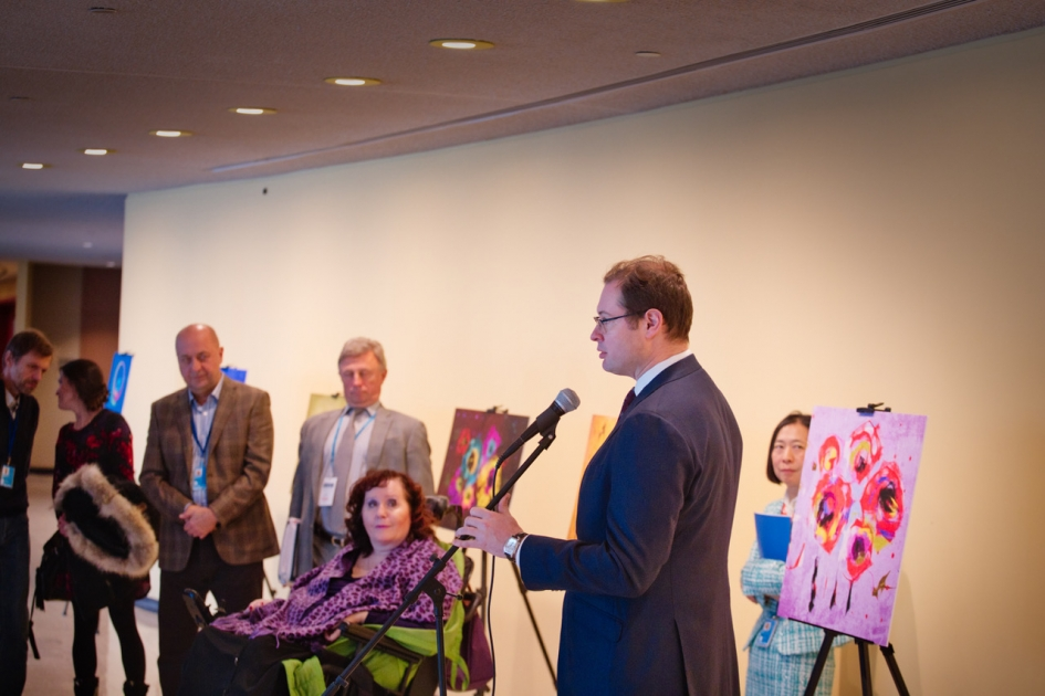 Opening remarks by Deputy Permanent Representative Dmitry Chumakov at the opening ceremony of the exposition of artworks by Galina Shevlak on the occasion of the International Day of Persons with Disabilities