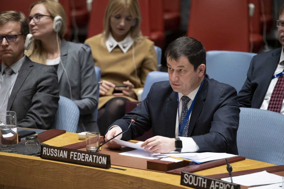 Statement by First Deputy Permanent Representative Dmitry Polyanskiy at a Security Council briefing on the Central African region