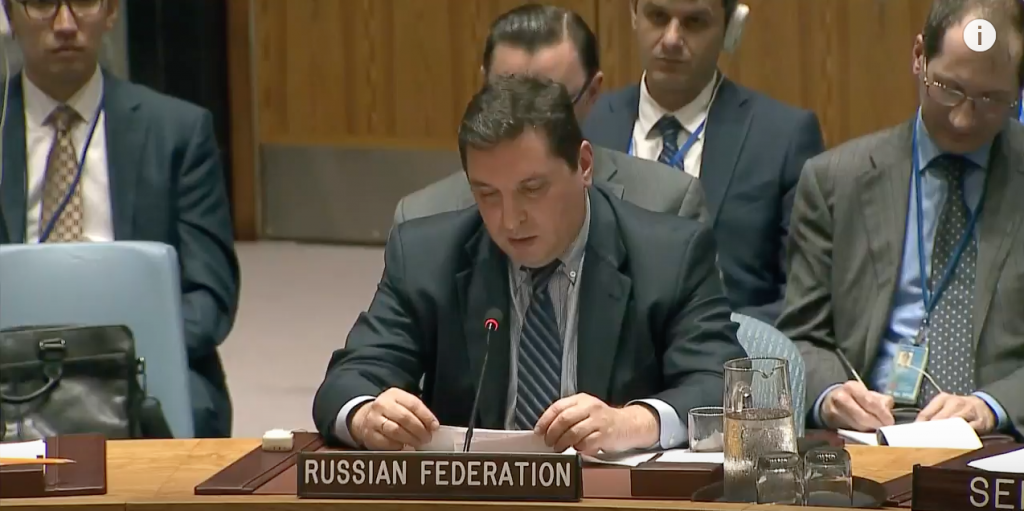 Statement by Mr. Vladimir Safronkov, Deputy Permanent Representative of the Russian Federation to the United Nations, at the Security Council on the Middle East