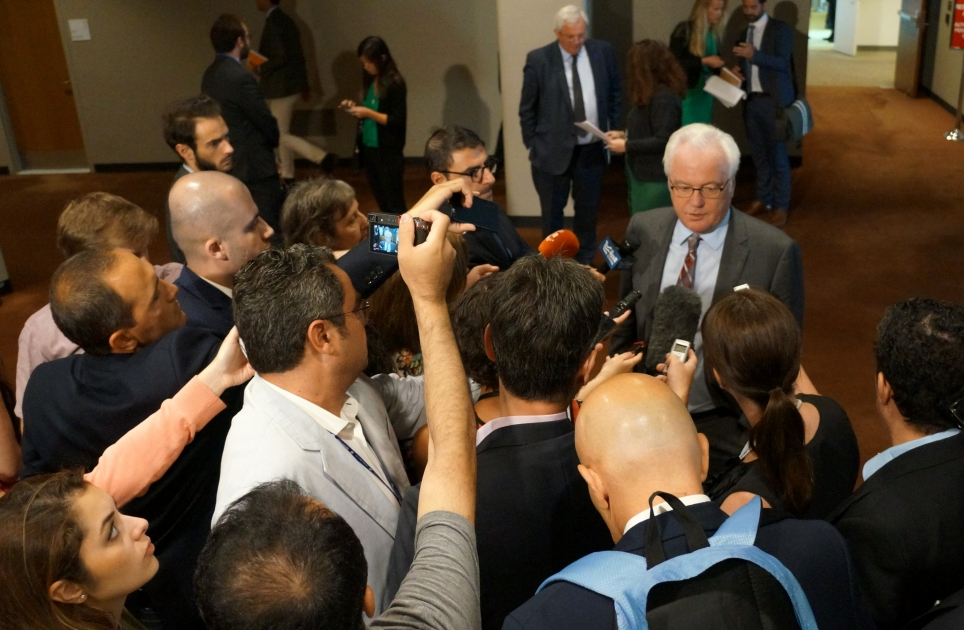 Remarks to the press by Ambassador Vitaly Churkin, Permanent Representative of the Russian Federation to the United Nations, following the UN Security Council consultations on the situation in Syria