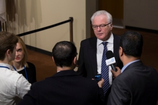 Remarks to the press by Ambassador Vitaly Churkin, Permanent Representative of the Russian Federation to the United Nations, following the UN Security Council meeting on the situation in Syria