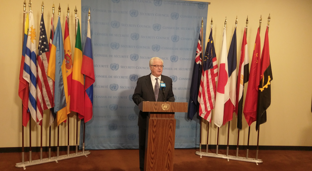 Remarks to the press by Ambassador V.Churkin,  Permanent Representative of the Russian Federation to the United Nations, following the Security Council  consultations on Colombia