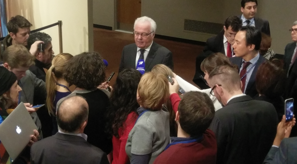 Remarks to the press by Ambassador Vitaly Churkin, Permanent Representative of the Russian Federation to the United Nations, following the Security Council consultations on Syria