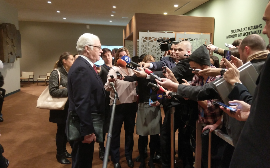 Remarks to the press by Ambassador Vitaly Churkin, Permanent Representative of the Russian Federation to the United Nations, before the Security Council meeting on Syria
