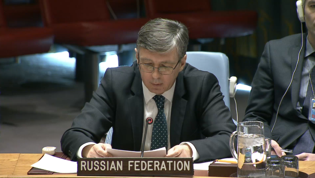 Statement by Mr. Evgeniy Zagaynov, Deputy Permanent Representative of the Russian Federation to the United Nations, at the Security Council on threats to international peace and security caused by terrorist acts