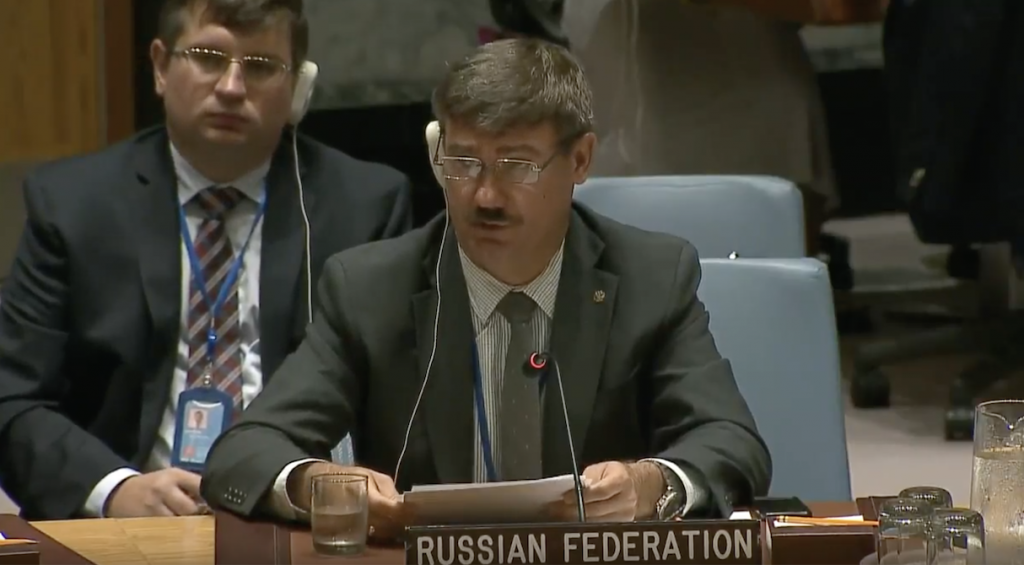 Statement by Mr. Petr Iliichev, Chargé d'Affaires, at the Security Council on peace and security in Africa