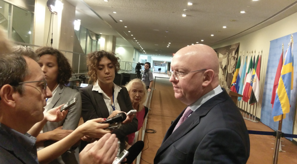 Remarks to the press by Ambassador Vassily Nebenzia, Permanent Representative of the Russian Federation to the United Nations following the Security Council consultations