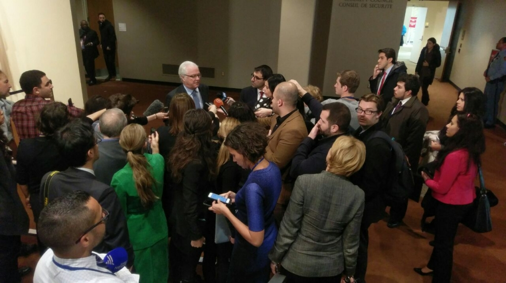Remarks to the press by Ambassador Vitaly Churkin, Permanent Representative of the Russian Federation to the United Nations, following the Security Council meeting on Syria