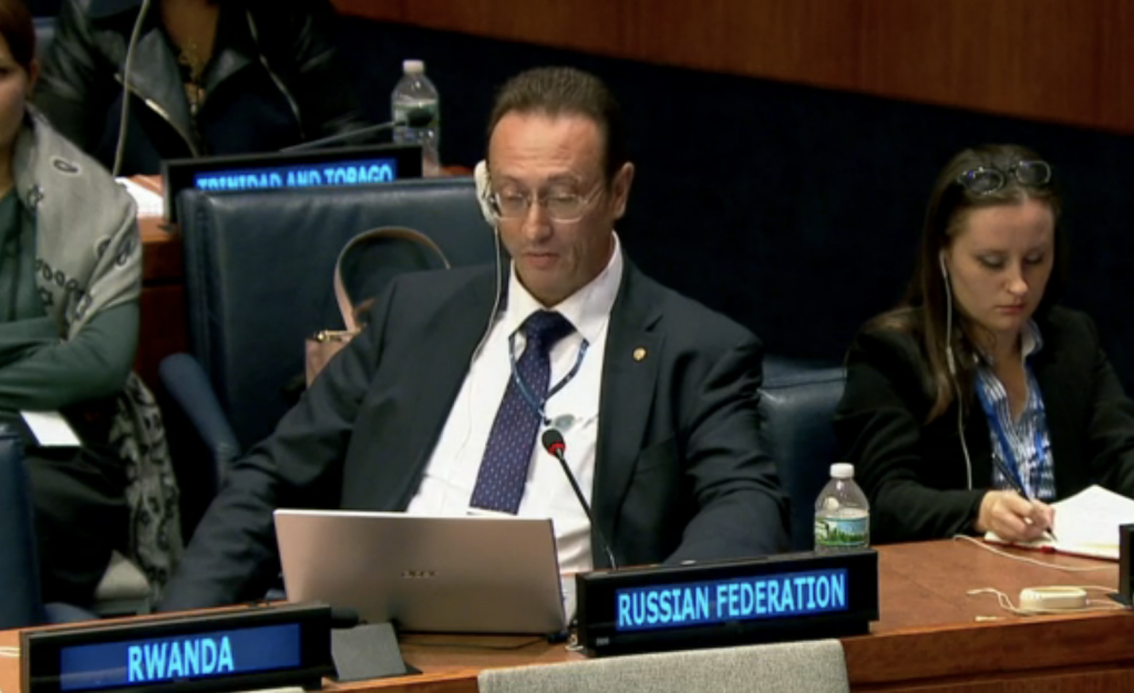 "Statement by the representative of the Russian Federation to the First Committee of the 72nd session of the UN General Assembly Vladimir Yermakov in the First Committee on ""Other weapons of mass destruction"" cluster"