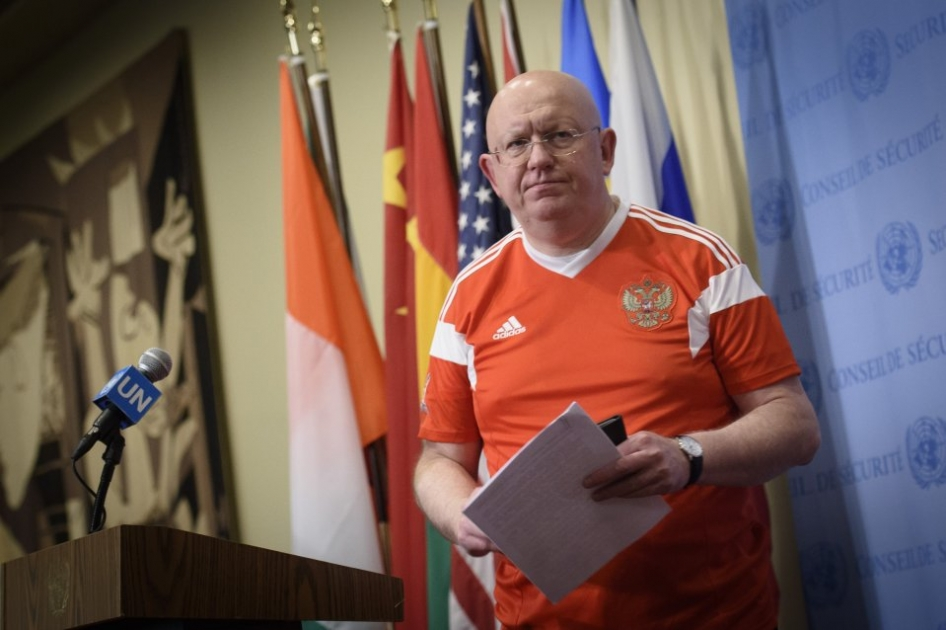 Remarks to the press by Ambassador Vassily A. Nebenzia after the FIFA World Cup Russia Opening Ceremony broadcast at the UN Headquarters, 14 June 2018