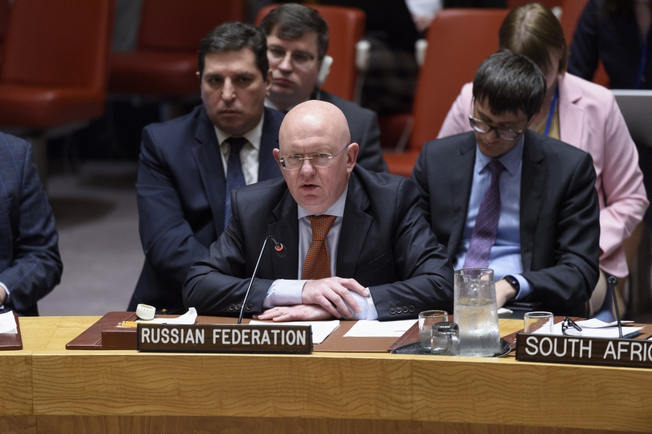 Statement by Permanent Representative Vassily Nebenzia at the UN Security Council Meeting on Syria