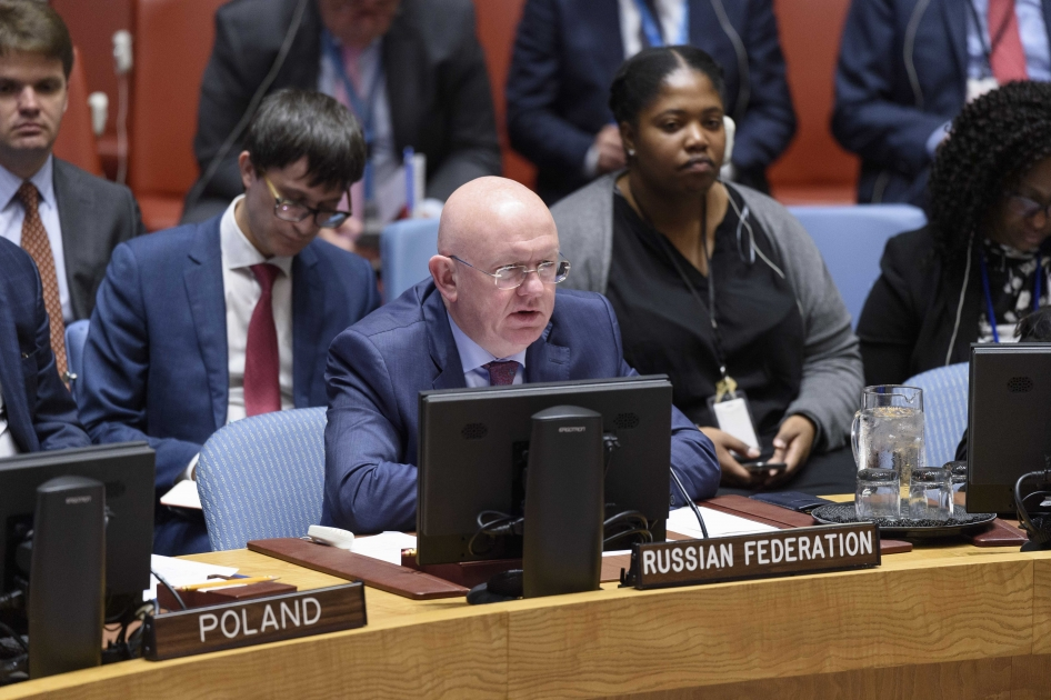 Statement by Permanent Representative Vassily Nebenzia at the UN Security Council Meeting on the Middle East, including the Palestinian Question