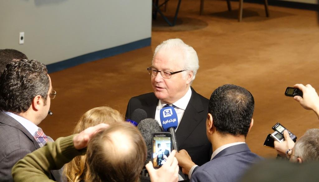 Remarks to the press by Ambassador Vitaly Churkin, Permanent Representative of the Russian Federation to the United Nations, before  the Security Council consultations on Syria