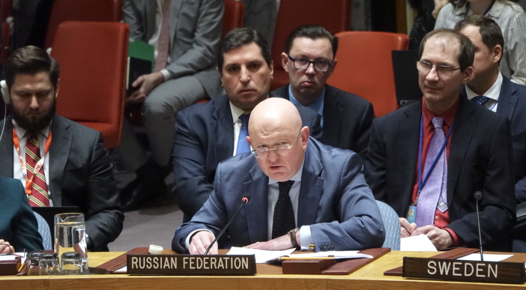 Statement by Ambassador Vassily A. Nebenzia, Permanent Representative of the Russian Federation to the United Nations, at the Security Council meeting on Syria