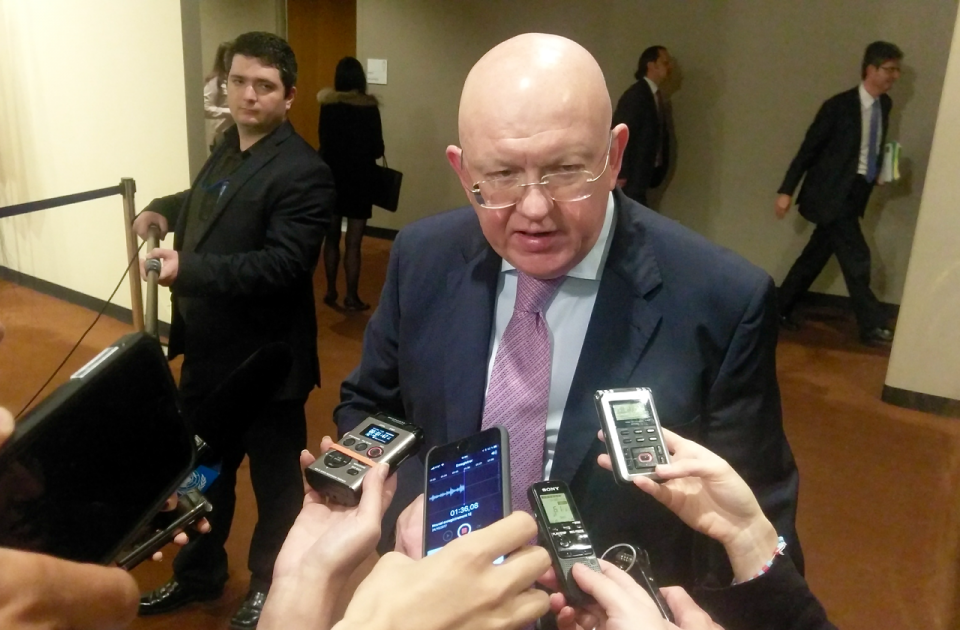 Remarks to the press by Ambassador Vassily Nebenzia, Permanent Representative of the Russian Federation  to the United Nations, following the Security Council meeting on Syria